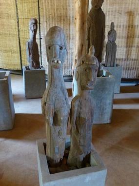 非洲传统野性 最后的原始部落文化习俗--孔索文化瓦加木刻