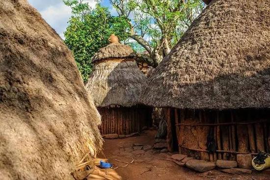 非洲传统野性 最后的原始部落文化习俗--Konso孔索人的茅屋