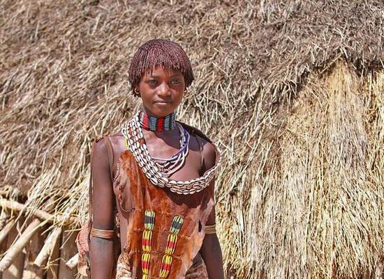 非洲传统野性 最后的原始部落文化习俗--哈莫尔族Hamerf的女人最美丽