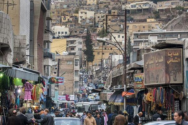 约旦风俗禁忌--首都安曼(Amman)市中心街景