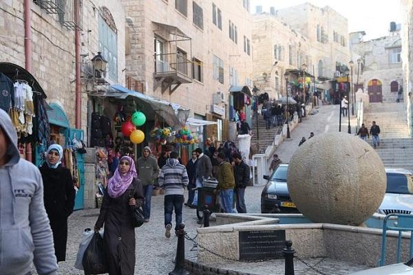 巴勒斯坦风俗禁忌--伯利恒的一条商业街