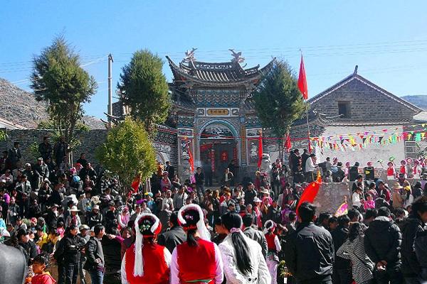 白族传统节日大全--春节庙会